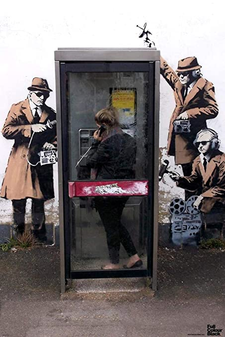 Amazon com: Pyramid America Banksy Spy Booth Graffiti