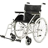 Days Swift Self Propelled Wheelchair, 46cm, Silver, Lightweight Mobility Device for Elderly, Handicapped, and Disabled Users, Portable Wheelchair for Independence or Caretaker Convenience
