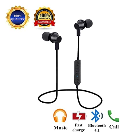 Auriculares Bluetooth running, Auriculares inalámbricos magnéticos, Portátil Mini Auriculares deportivos con Bluetooth 4.1 Manos