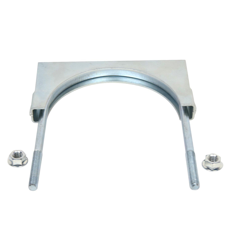 Zinc Plated Flat Band 3.5 U Bolt Saddle Exhaust Clamp