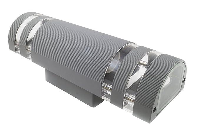Plafoniera Da Esterno Con Doppia Lampada : Plafoniera applique grigio lampada attacco doppia striscia e