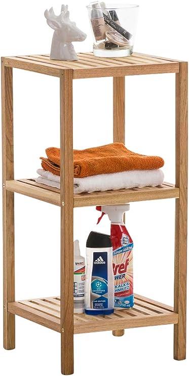 Clp Standregal Aus Holz Holzregal In Verschiedenen Hohen Erhaltlich Badezimmerregal Mit 3 5 Ablageflachen Farbe Walnuss Grosse L Amazon De Kuche Haushalt