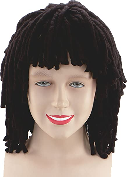 Womens Fancy Jamaican Disco Party Fake Hair Short Ruud Guillit Rasta Style  Wig  Amazon.ca  Clothing   Accessories 01c24cef27