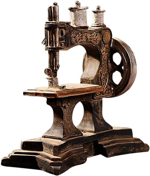 YINSONG Adornos para Máquinas de Coser - Vintage Retro Ornaments Adornos para la Casa Cafe Ornamento, Estilo 3, 19 * 18.2 * 7cm: Amazon.es: Hogar