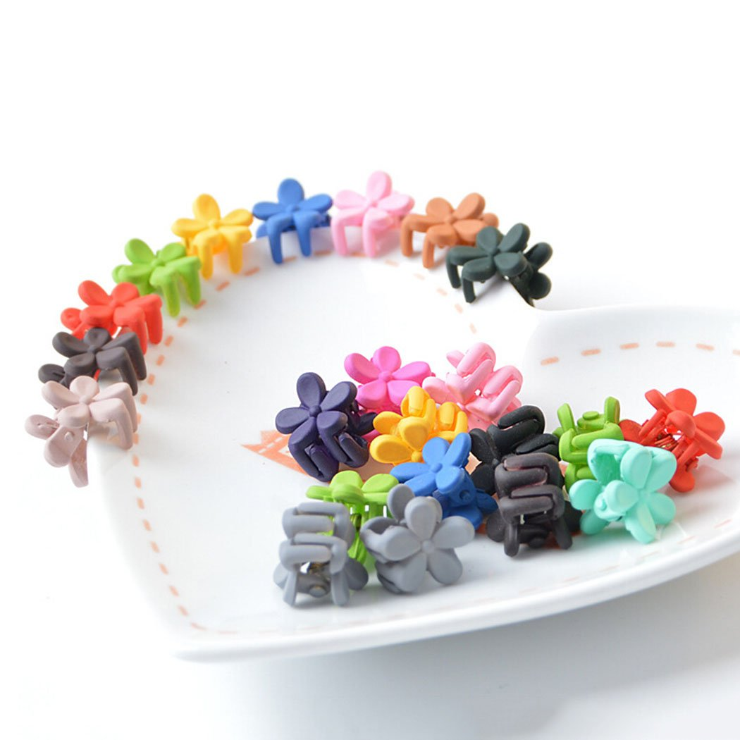 Baby Hair Clips, Aniwon 50Pcs Colored Flower Cute Hair Accessories Girls Boutique Beautiful Mini Hair Clips For Kids Toddlers Teens