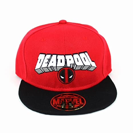 Marvel Comics Deadpool para hombre gorra snapback logo and target - Gorra de béisbol colour rojo y negro: Amazon.es: Deportes y aire libre