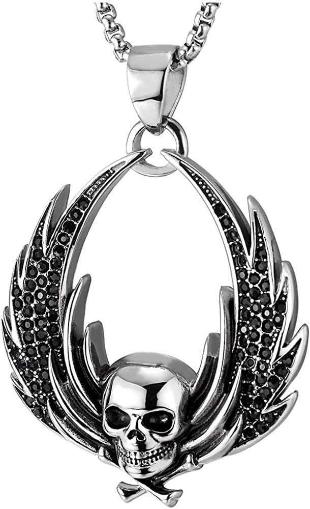 Cz Angel Wing Stainless Steel Pendant