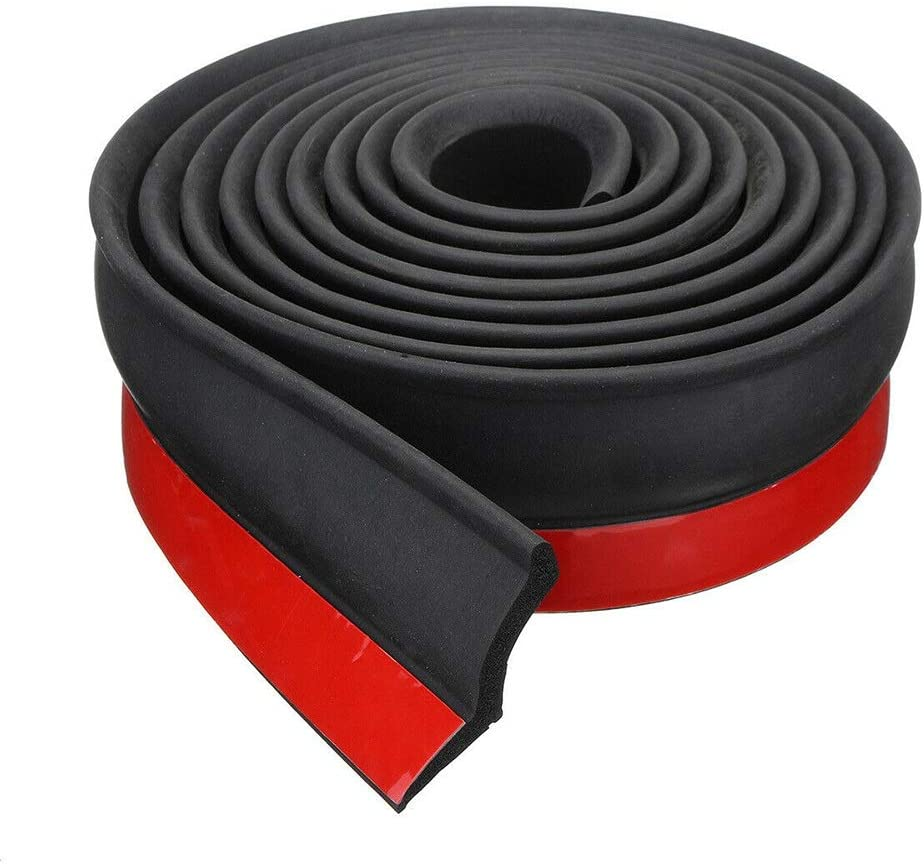 Burlete de goma para puerta de garaje, protege del tiempo, cinta de sellado multiusos para puerta de garaje, borde inferior para protección contra el clima