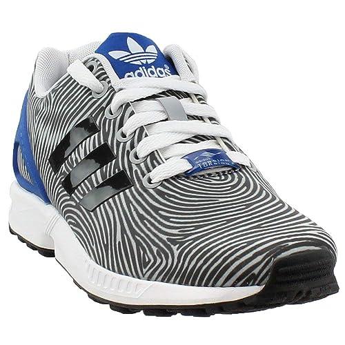 buy popular ff2e2 f9766 Mens Adidas ZX Flux Thumbprint Clear Onix Grey Blue B27458  Amazon.ca   Shoes   Handbags