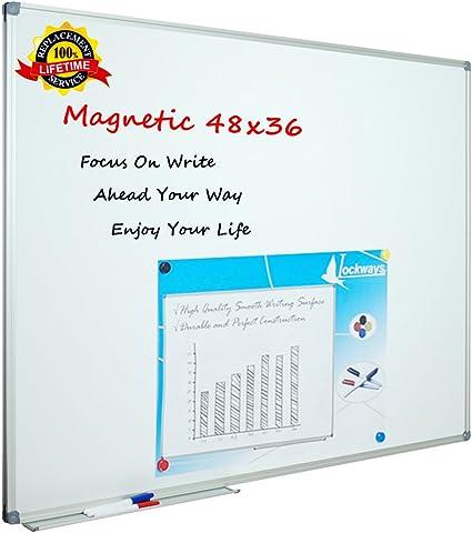 Amazon.com: Lockways, pizarra blanca magnética de 36 ...