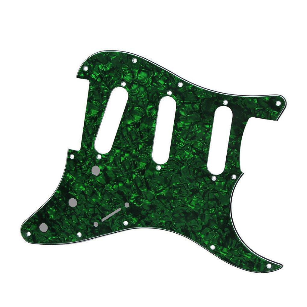 1Ply Transparent Golpeador de repuesto para guitarra el/éctrica Fleor estilo SSS de 11 agujeros de celuloide con placa de PVC para Fender Strat.