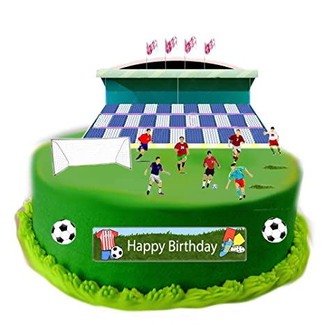 Superb Football Scene Made From Edible Wafer Paper Perfect For Decorating Birthday Cards Printable Nowaargucafe Filternl