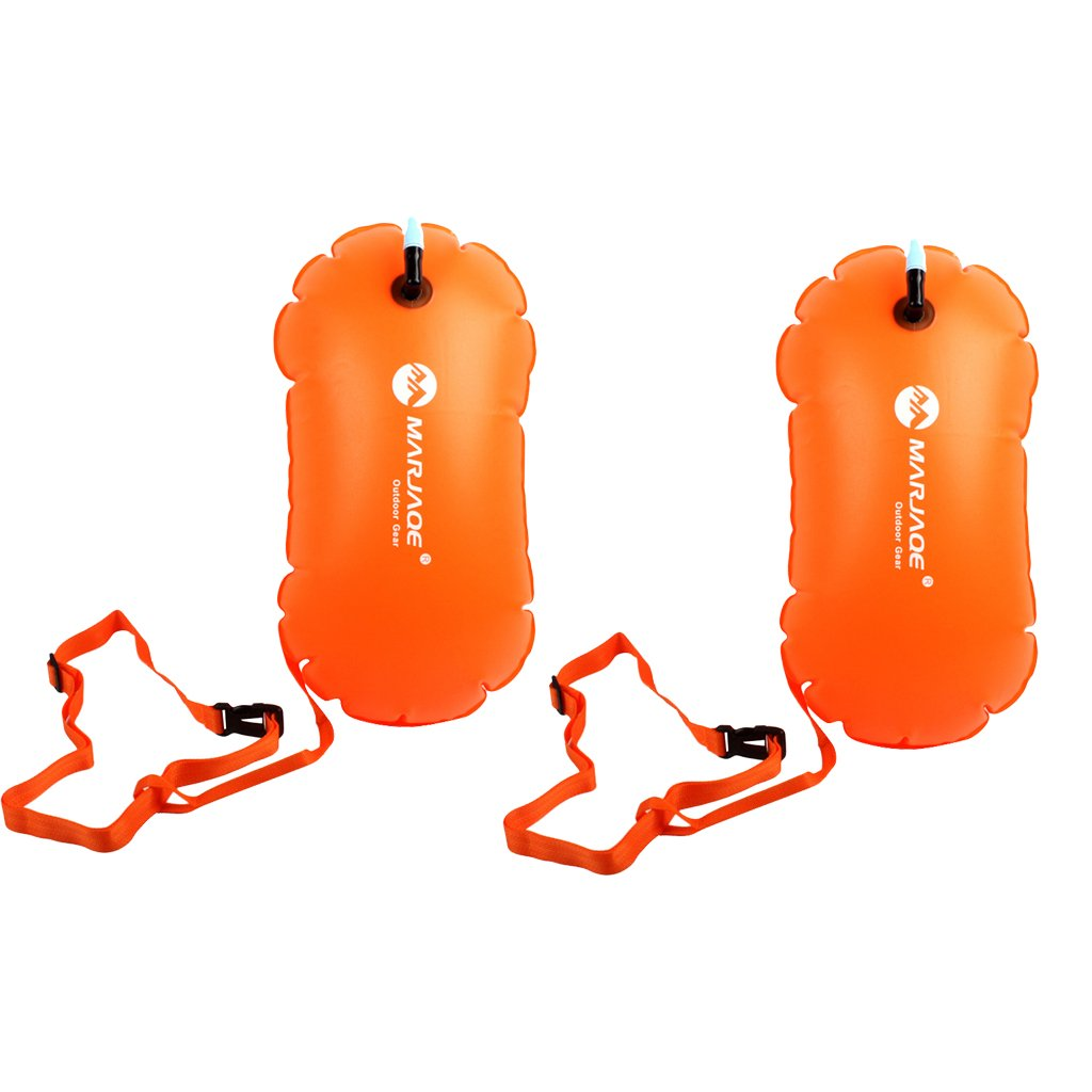 MagiDeal 2pcs Swim Buoy – Swim安全Float and Dry Bag for Open水水泳Triathletes Snorkelers Surfers安全水泳トレーニング   B07DMBJNN7