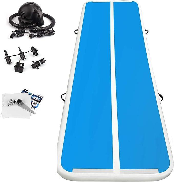 FBSPORT Airtrack Gymnastique 5M Tumbling Gonflable en Couleurs Tapis De Gym Gonflable Piste d/'Air Gonflable pour Pique-Nique Ou Exercice avec Pompe /à air /électrique