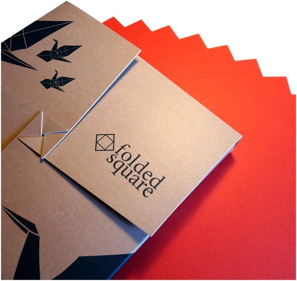 Papel de origami 100 Hoja Set de regalo – Pantone rojo 1797