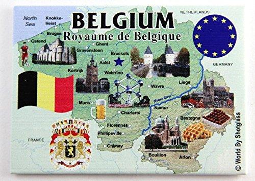 belgium refrigerator magnet - 2