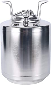 YaeBrew Stainless Steel 2.6 Gallon Mini Ball Lock Keg System For Small Batch HomeBrewing Beer Brewing Strap Handle (10L)