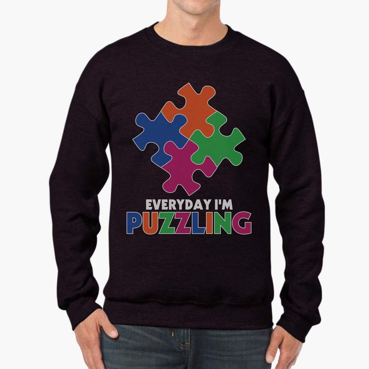 Doryti Everyday Im Puzzling Autism Awareness Unisex Sweatshirt tee