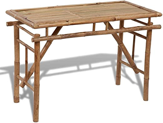 vidaXL Bambú Mesa Plegable Mueble Jardín Patio Mesilla Mesita Terraza Exterior: Amazon.es: Hogar