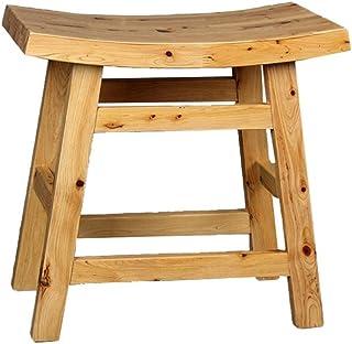 C-K-P Tabouret de bar de style minimaliste moderne tabouret de surface en bois massif salle de bain imperméable à l'eau anti-dérapant sécurité confortable chaise de bain ancienne chaise de salle de ba