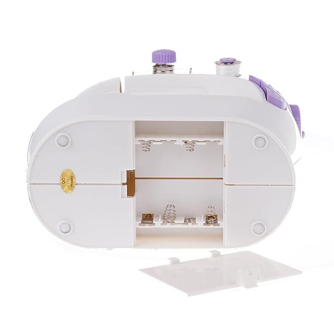 Vinteky® Minimáquina de coser de ocasión para escritorio. Ofrece una puntada prolija y recta de hilo doble. Es portátil y fácil de utilizar: Amazon.es: ...