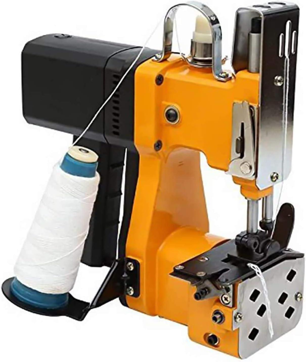 MATHOWAL Máquina de cierre de bolsas, 220V Portátil Máquina de Coser Empaquetadora Eléctrica Sellado de Costura para Bolsa de Plástico Sacos Bolsas de Lona Bolsas Tejidas Paquetes de Bolsas