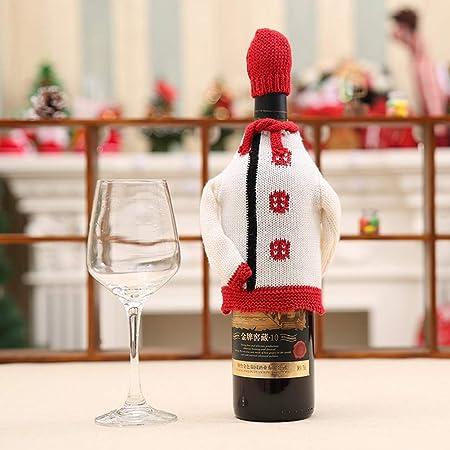 Julyfun Navidad Bolsas para Botellas de Vino Bolsas de Navidad Patrón de Ciervos de muñeco de Nieve Envoltura de Botellas Fiesta Decoraciones para cumpleaños Fiesta de Bodas Favores Celebración: Amazon.es: Hogar