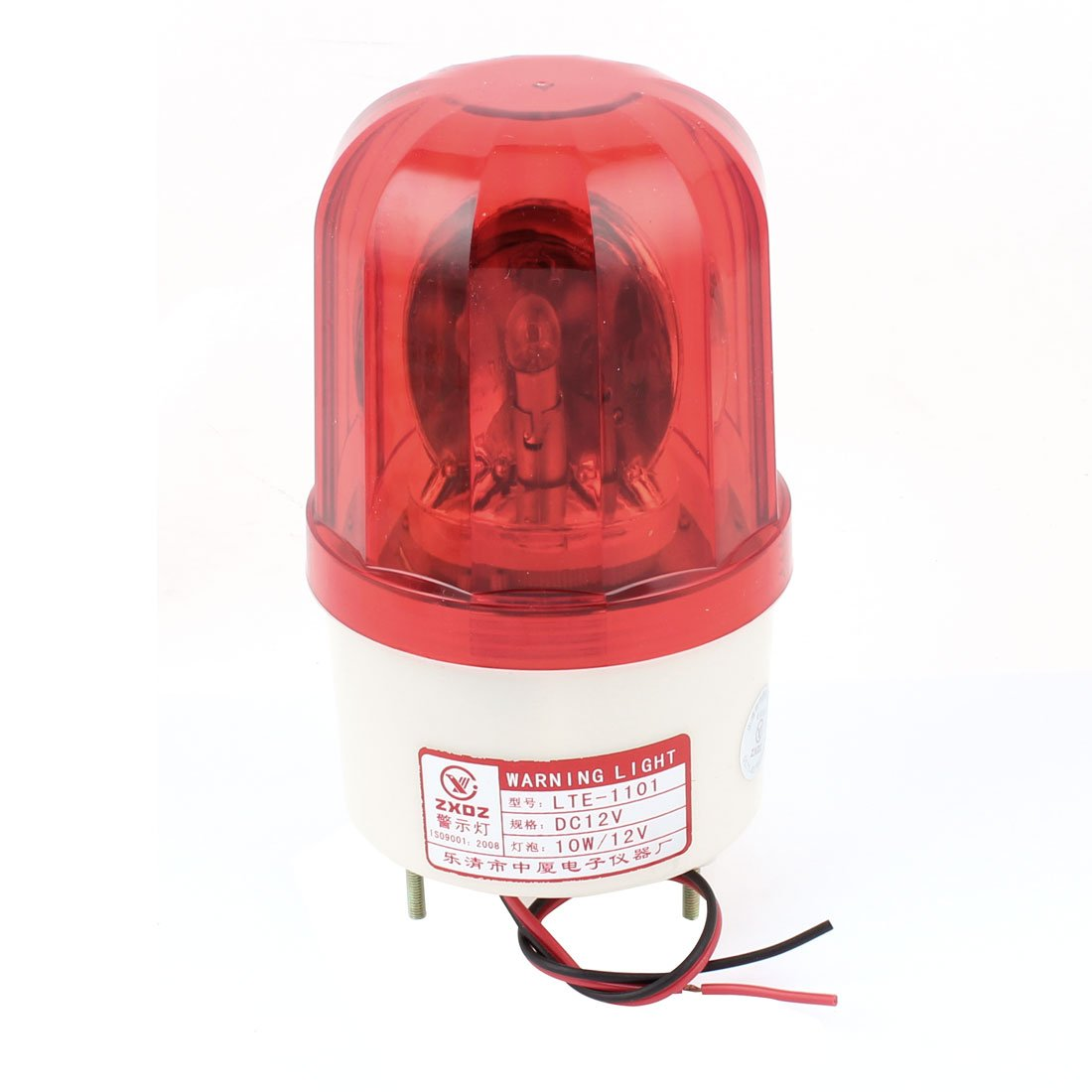 Industrial DC 12V Red Flash Emergency Rotary Signal Warning Lamp Light