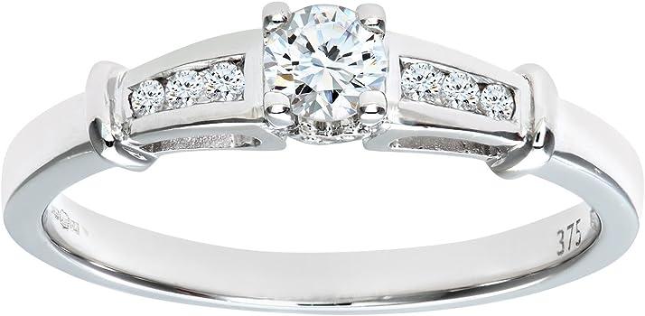 anillo con diamante grande