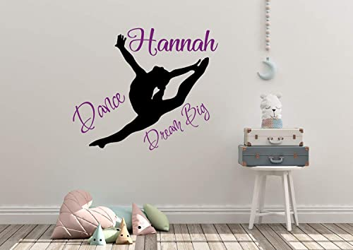 set of 6 monogram cheerleader art gift for girl teen girl wall art choose your colors and sports Gymnastics wall art dance wall art