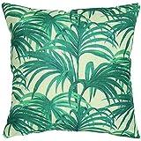 Luxbon-Rainforest Palm Leaf Outdoor Cushion Cover Durable Cotton Linen Throw Pillow Case Garden Tropical Holiday Decors18X18 inch, 45x45cm