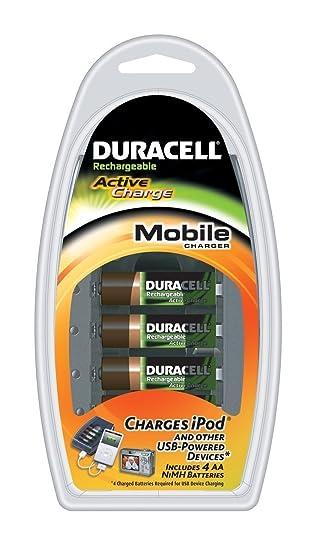 Amazon.com: Duracell Mobile Charger con 4 pilas recargables ...
