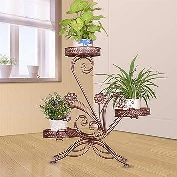XQY Soporte de Flores para Interiores, Estante para Flores, Arte de Hierro, Multilayer