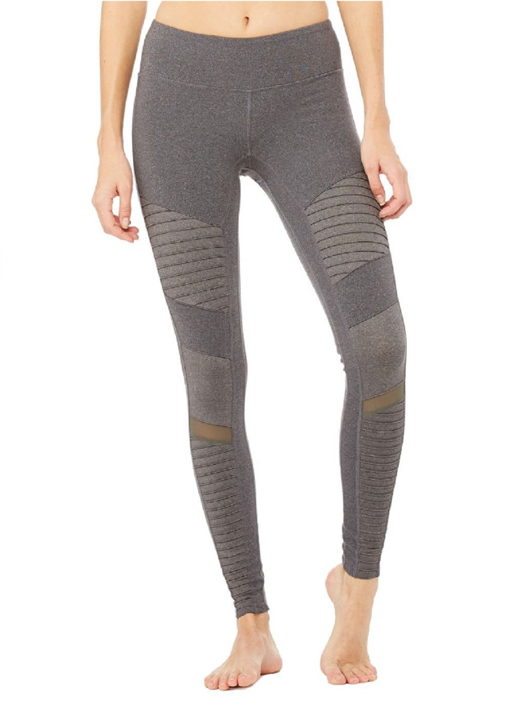Alo Yoga Women's Moto Legging, Stormy Heather/Stormy Heather, XS