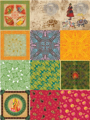Dove of the East 12-Sheet Paper Sampler for Scrapbooking, India Journey, 12 by 12-Inch (Ons Rub Wedding)