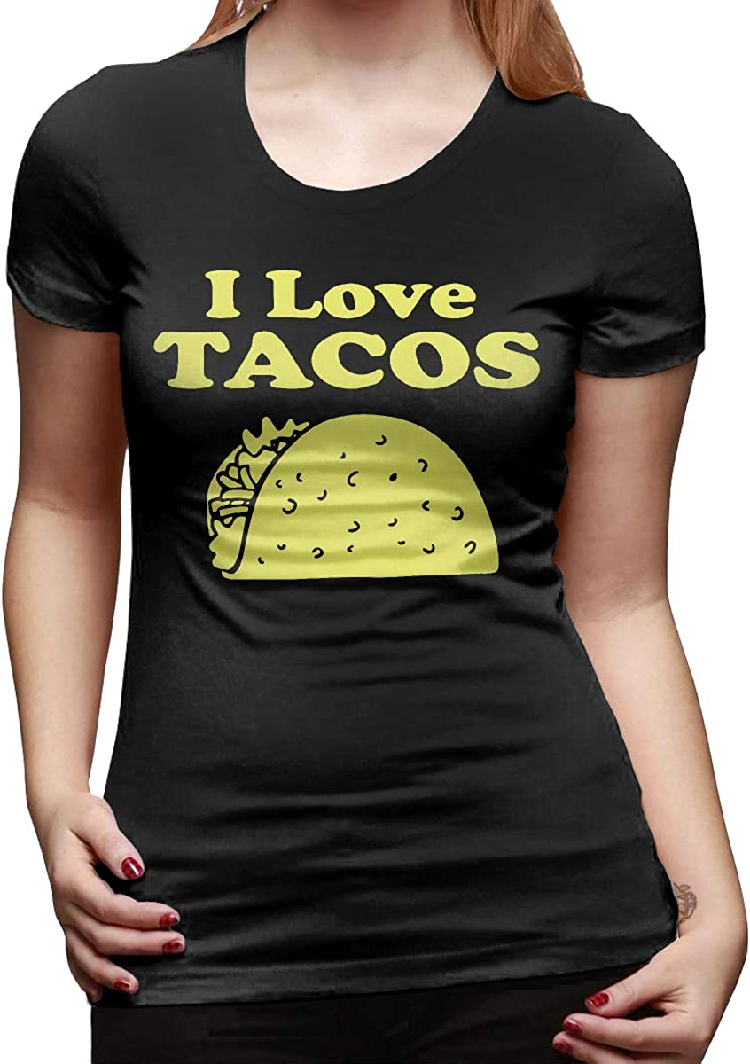 I Love Tacos Womens Cool Short-Sleeved T-Shirts