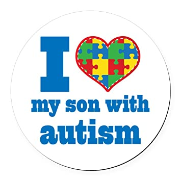 Cafepress autism i love my son round car magnet round car magnet