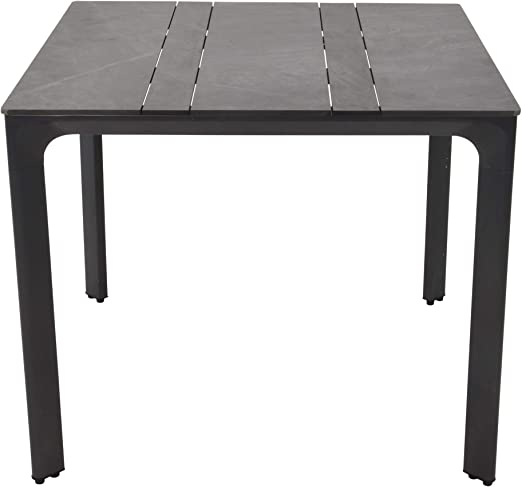 LLiving Garden Table Granit-Look Aluminium Anthracite 90 x ...