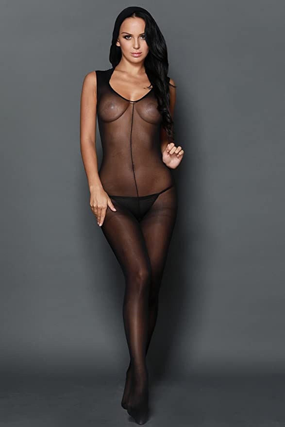 1a88045c86c Amazon.com: TEZUKAFUJI Womens Sexy Mesh Lingerie Footless Bodystocking  Tights with Hood Black OneSize: Clothing