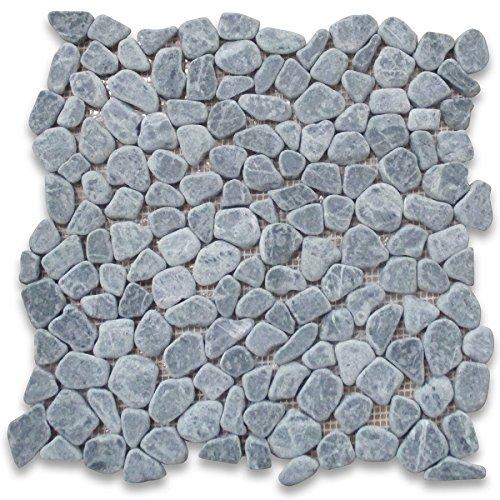 (Indian Green Marble River Rocks Pebble Stone Mosaic Tile Tumbled)