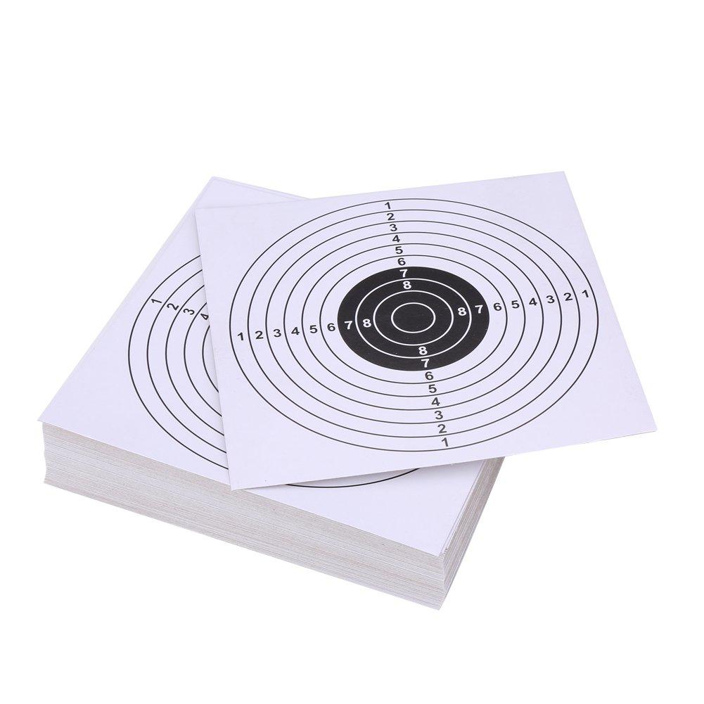 100 Pcs Archery Target Faces Air Gun Rifle Shooting Paper Targets 14*14 cm VGEBY