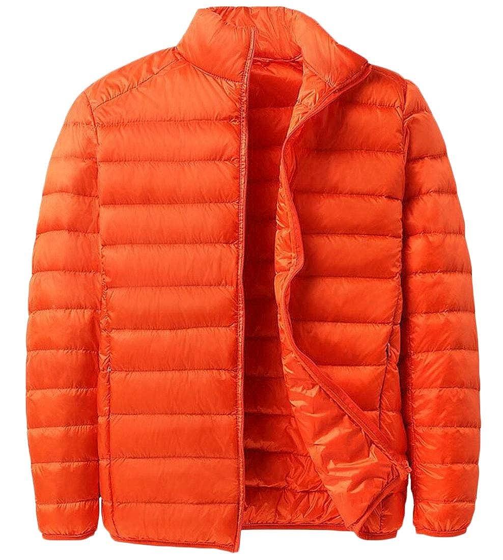 GenericMen Winter Puffer Down Jacket Lightweight Packable Warm Coat