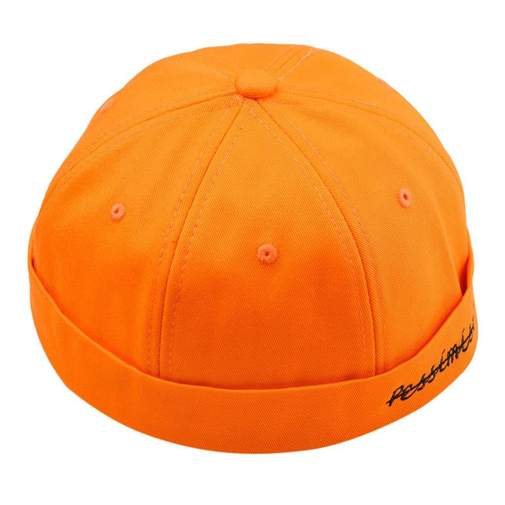 Winkey  Men Women Hats Cap Casual Docker Sailor Mechanic Brimless Solid Color Fashion Caps