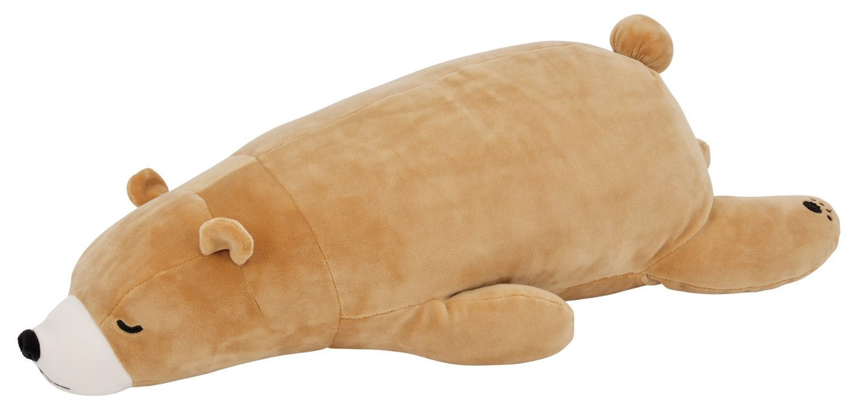 LivHeart Premium Nemu Nemu Super Soft Body Pillow Hug Pillow Bear (M)