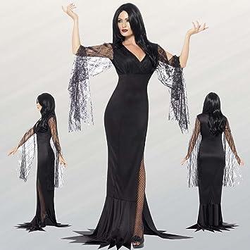 NET TOYS Disfraz Viuda Negra Traje Dark Lady S 36/38 Atuendo Reina ...