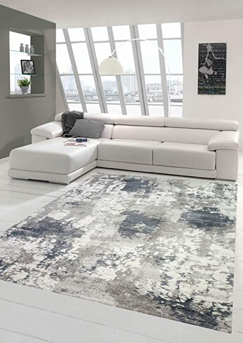 Teppich-Traum Carpet children rug space learning carpet with stars and planets in pastel gray size 80x150 cm