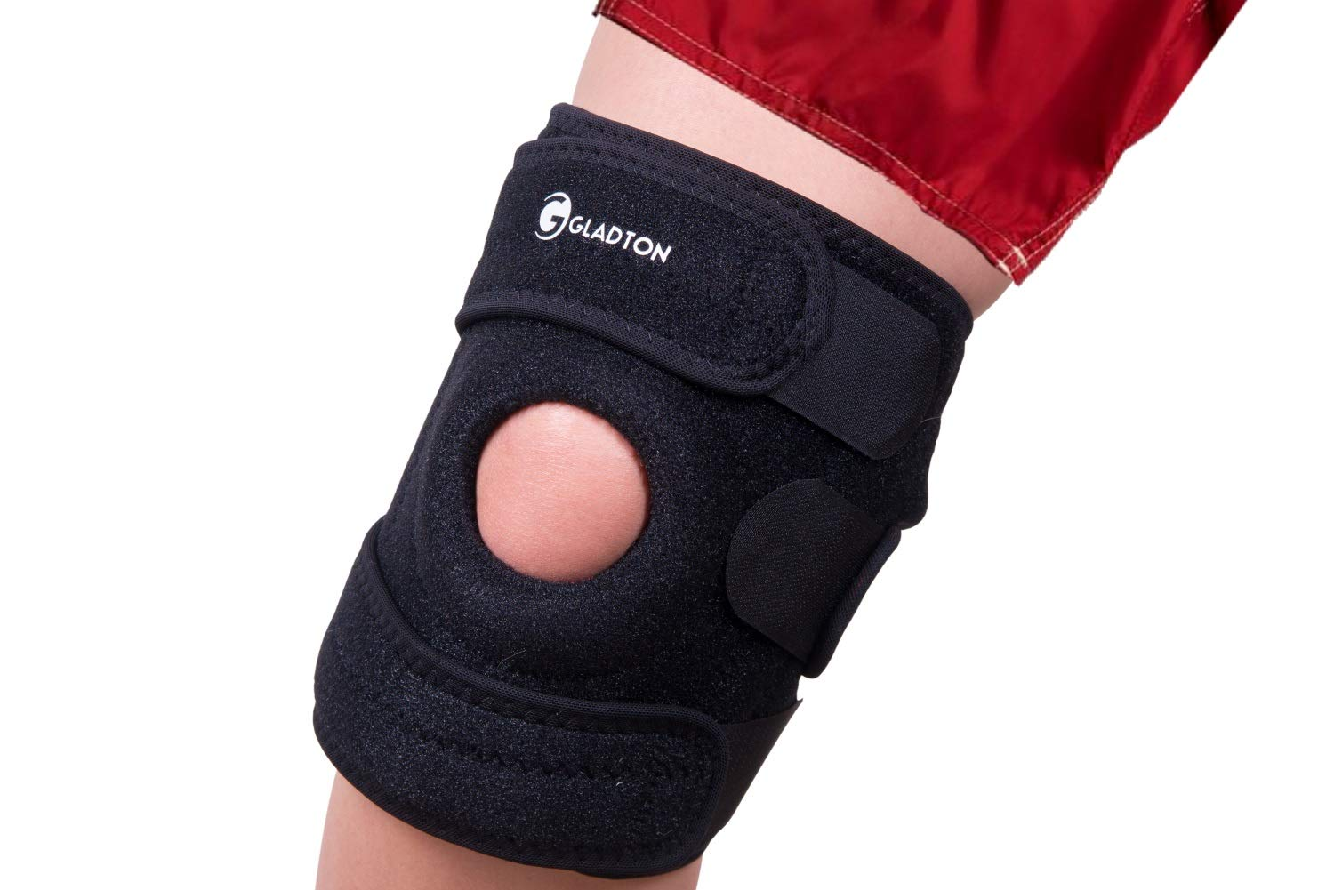 Gladton Large XL XXL XXXL 2XL 3XL Knee Brace Support for Running Meniscus Tear Arthritis ACL MCL Pain Sports. Open Patella Adjustable Stabilizers for Plus Size Big Large Legs Thighs Women Men. 4 Sizes by Gladton