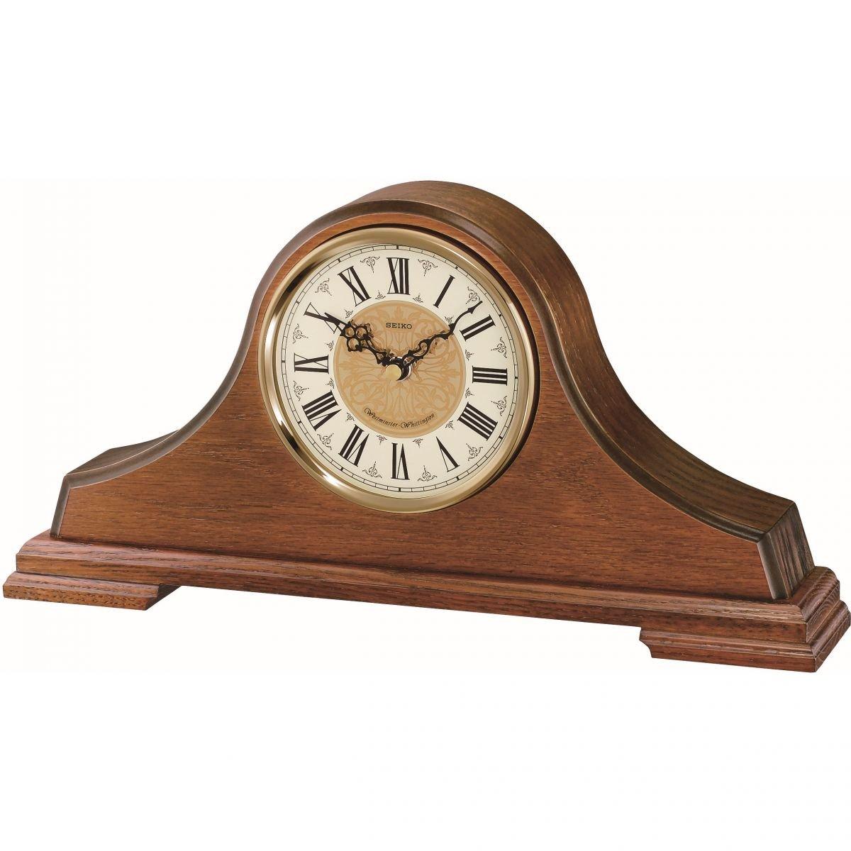 Seiko Clocks Clocks Clocks Wooden Mantle QXJ013B by Seiko 186a50