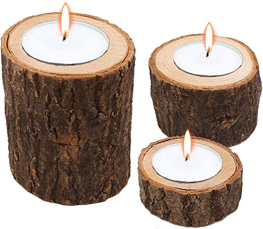 Unity Candle Holder Set ~ Tree Branch Unity Candle Holder ~ Wedding Candles set