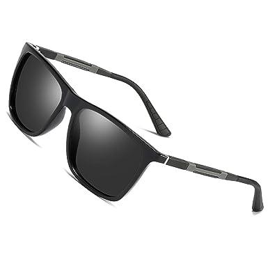 9f0dea92645323 Sonnenbrille Polarisierte Herren damen Gläser für Outdoor Sport,100% UVA/UV  400 SCHUTZ Brille Unisex Modische Fahrer für Golf/Autofahren Outdoor ...